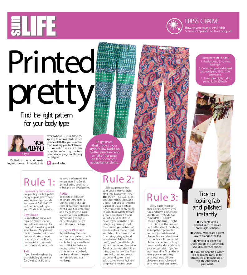 HOW TO WEAR IT – Printed Pants