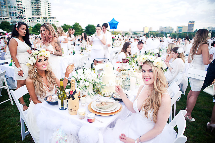 Diner En Blanc, Jasmin Hoffman, Stephanie Smith, Daniella Guzzo Photography