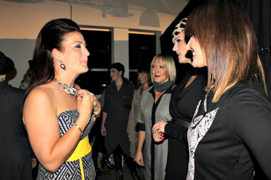 Backstage, Malene Grotrian, Full Circle Fashion Event, Nadia Albano Style Inc
