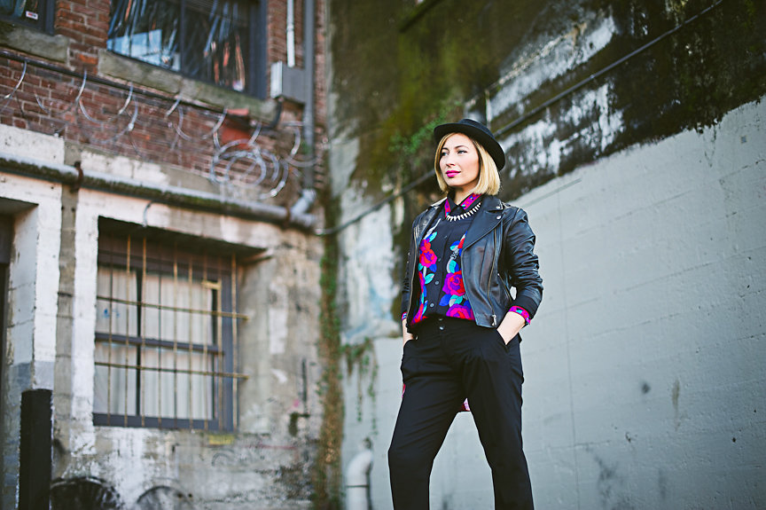 Nadia Albano, Brim Hat, Leather Jacket, Winners, Floral Top, Daniella Guzzo Photography
