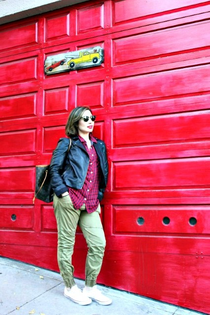 Nadia Albano, Red Door, Kenneth Cole, Maison Scotch, Conver Sneakers, Browns Shoes, Leather Jacket, Winners, San Francisco, CA