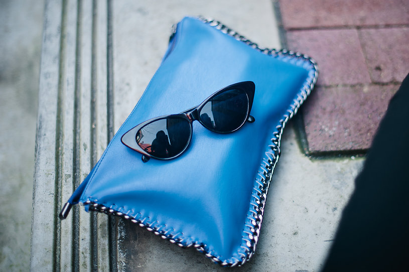 Nadia Albano, Cobalt Blue Clutch, Browns, Cat-Eye Shades, Daniella Guzzo Photography