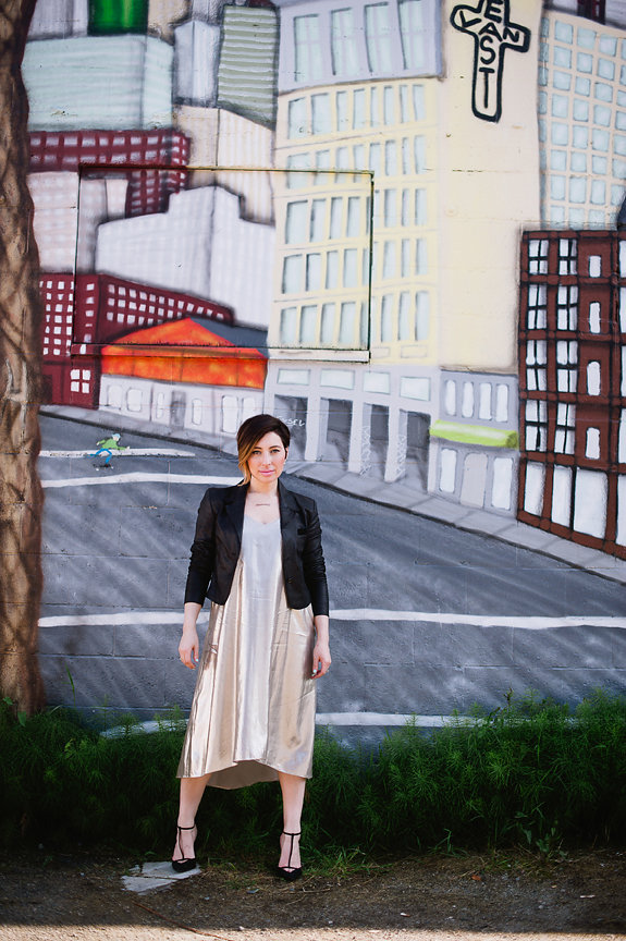 Nadia Albano, Dress, Club Monaco, Leather Jacket, Winners, Shoes, Zara, Daniella Guzzo Photography