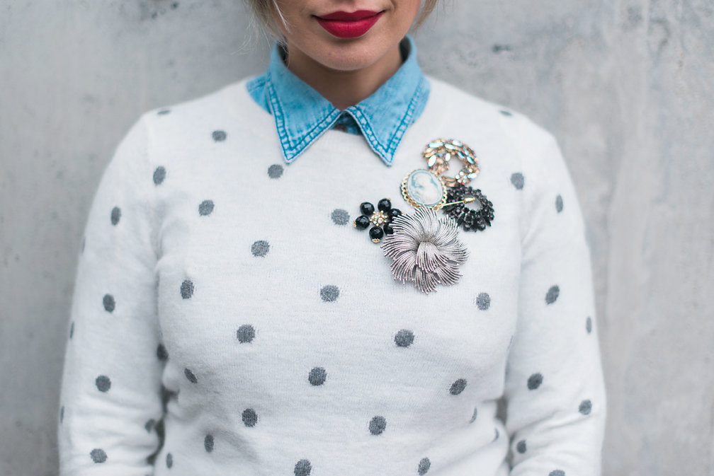 Nadia Albano, Polka-dot Sweater, Winners, Brooches, Daniella Guzzo Photography