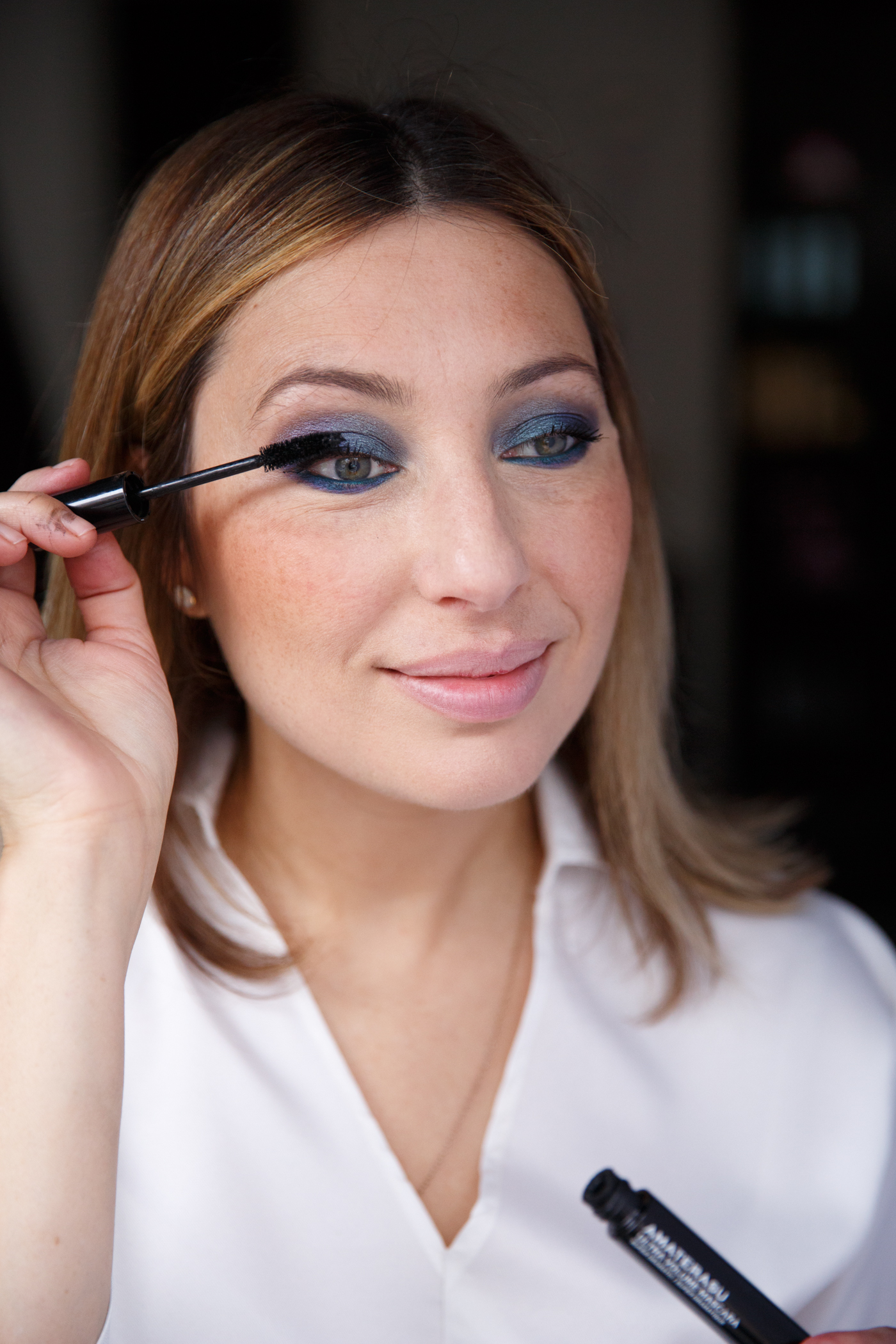 Nadia Albano, NYE, Makeup Tutorial, Hair Tutorial, Blue Eye Makeup, Union Photography, Laura Mercier, Make Up For Ever, MAC, Mereadesso, KMS, NadittudeTM