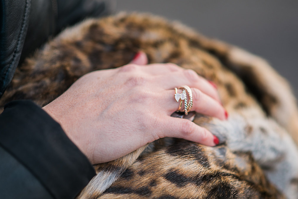 Nadia Albano, Leah Alexandra, Adjustable Pear Ring, Faux Leopard Fur Coat, Value Village, Daniella Guzzo Photography