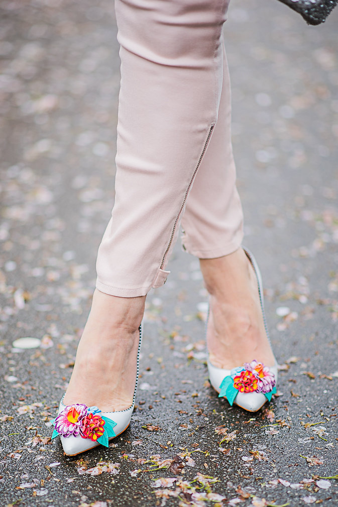 Nadia Albano, Cherry Blossoms, Floral Shoes, Sophia Webster, Daniella Guzzo Photography